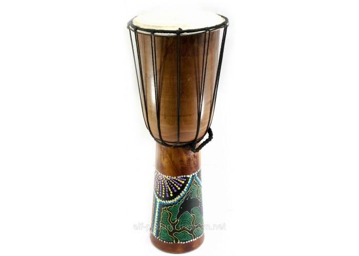 Барабан розписний дерево з шкірою (50х19х19 см) ЗП-30190