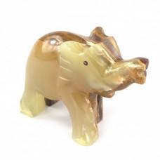 Фігурка Онікс - Слон з натурального каменю Онікс (Висота 5,5 см, Довжина 6,5 см)