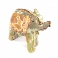 Фігурка Онікс - Слон з натурального каменю Онікс (Висота 6,5 см, Довжина 7,5 см)
