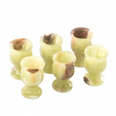 Набір Чарок для горілки з натурального каменю Онікс (Висота 5,5 см, Ширина 3,5 см)