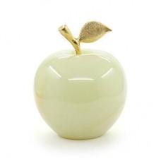 Фігурка Онікс - Яблуко з натурального лікувального каменю Онікс (Висота 6,5 см, Діаметр 5 см)
