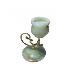 Фігурка Онікс - Підсвічник з натурального каменю Онікс (Висота 12,5 см, Ширина 7,5 см)