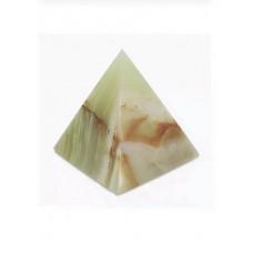 Фігурка Онікс - Піраміда з натурального лікувального каменю Онікс (Висота 6,5 см, Діаметр 6,5 см)