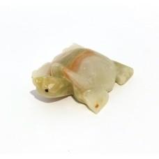 Фігурка Онікс - Черепаха з натурального лікувального каменю Онікс (Довжина 7,5 см, Ширина 6,5 см)