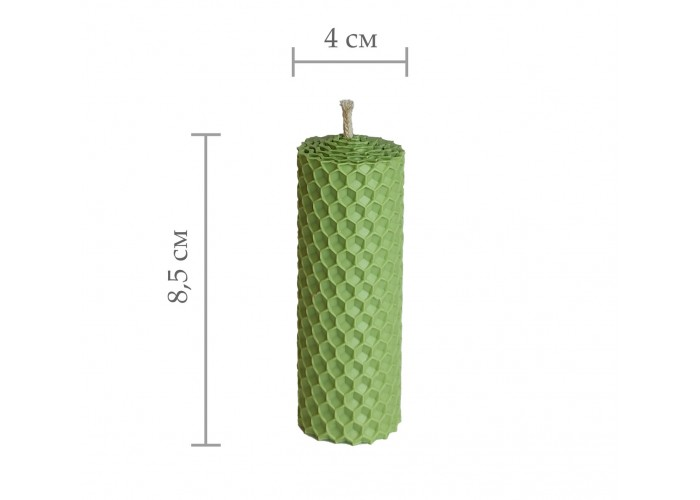 Свічка з вощини, катана свічка з кольорової вощини - Зелений (8,5 см×4 см)
