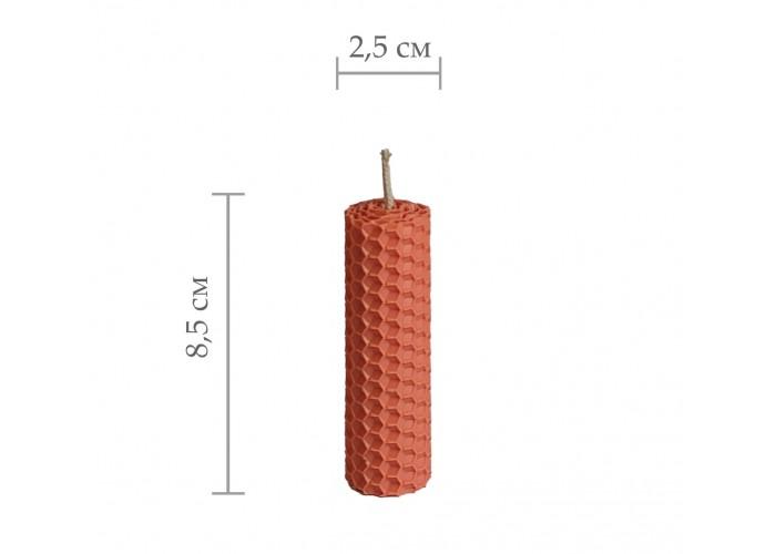 Свічка з вощини, катана свічка з кольорової вощини - Помаранчевий (8,5 см×2,5 см)