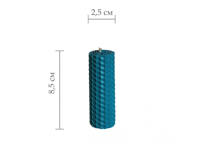 Свічка з вощини, катана свічка з кольорової вощини - Синій (8,5 см×2,5 см)