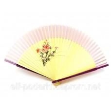 Віяло бамбук з шовком (21 см)