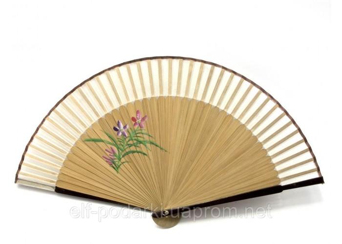 Віяло бамбук з шовком (21 см)B ЗП-24666B