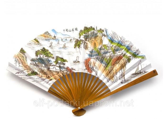 """Віяло бамбук+папір (29 см)(9"""")(5 шт/уп) ЗП-30005"""