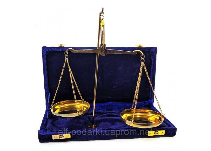 Ваги бронзові подарунковій коробці 100г 25х13х3см (33971)