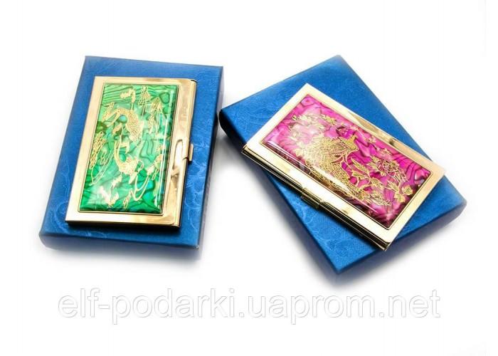 """Візитниця """"Візерунок"""" золото (9,5х6,5х0,5 см) ЗП-19306"""