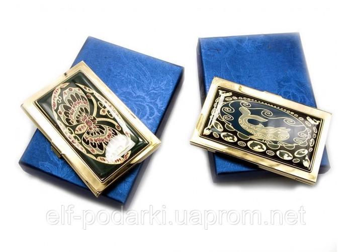 """Візитниця """"Візерунок"""" золото (9,5х6,5х0,5 см) ЗП-19310"""