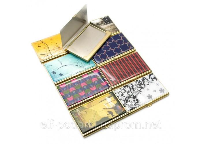 Візитниця металева з малюнком (9,3х5,9х1,4 см) ЗП-23669