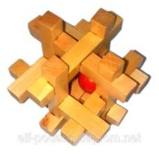 Дерев'яна Головоломка (7,5х7,5х7,5см) ЗП-28019A