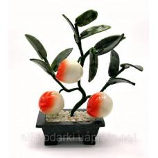 Дерево персик (3 плоду)(18х19х7 см) ЗП-18612