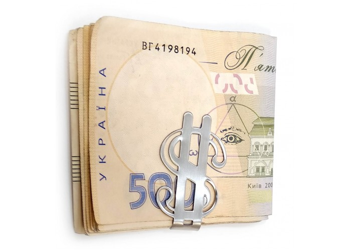 """Затиск для грошей """"$"""" (5х3х0,6 см) ЗП-32065"""