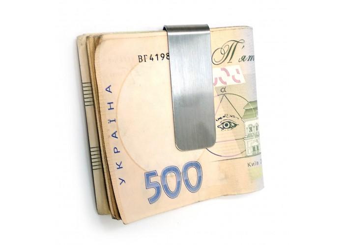 Затиск для грошей хром (5,5х2х0,6 см) ЗП-32063