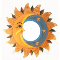 "Дзеркало мозаїчне ""Місяць і Сонце"" (d-40 см)"