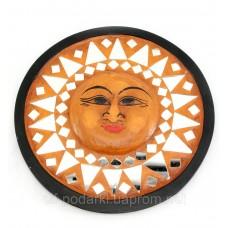 """Дзеркало мозаїчне """"Сонце"""" (d-20 см)"""