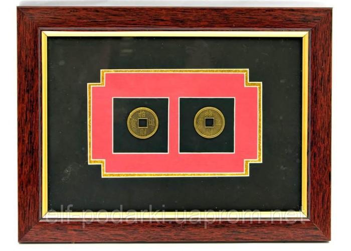 "Картина ""2 монети"" (23,5х17,5х1 см)"
