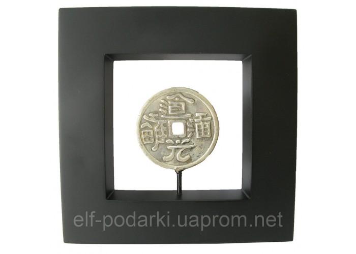 """Картина з бронзовою фігурою """"Монета"""" (20x20) (Індонезія)"""