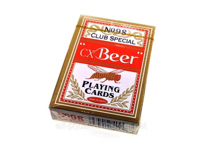 """Карти гральні """"Beer"""" 9х6х1,8см пластикове покриття (24968A)"""