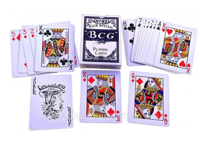 """Карти гральні """"BCG"""" (9х6,5х1,8 см)(12 шт/уп) ЗП-22886A"""