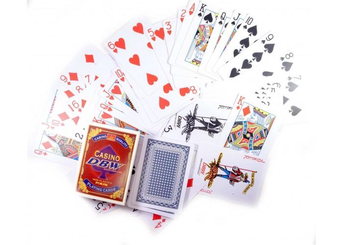 """Карти гральні пластикові """"Casino DBW"""" (12шт/уп) ЗП-30765"""