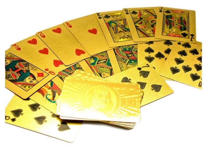 """Карти гральні пластикові """"Золото"""" (9х6х2 см)(10 шт/уп) ЗП-26755"""