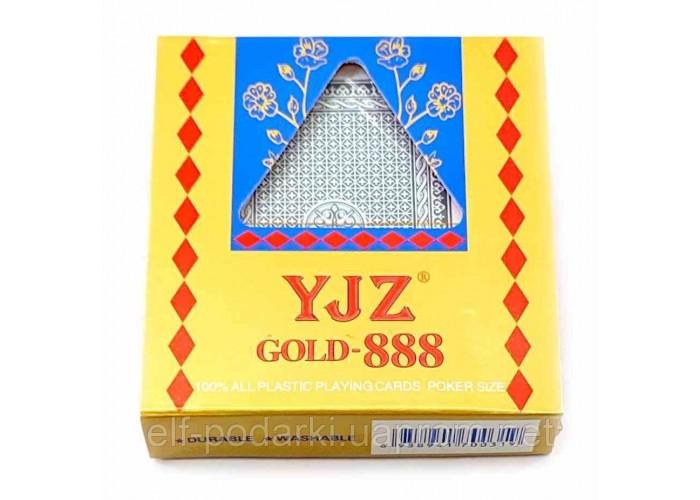 Карти гральні пластикові JYZ Gold 888 9,7х9х2,3см (23940)