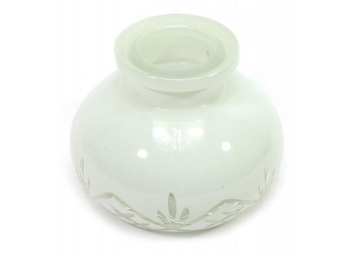 Колба для кальяну біла (10х10х8 см)(внутрішній d-3,5 см) ЗП-28933A