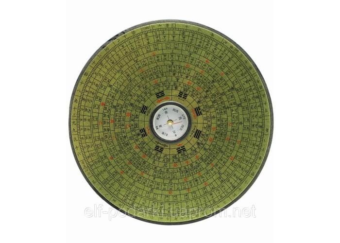 Компас феншуй дерев'яний круглий 14см (19887)