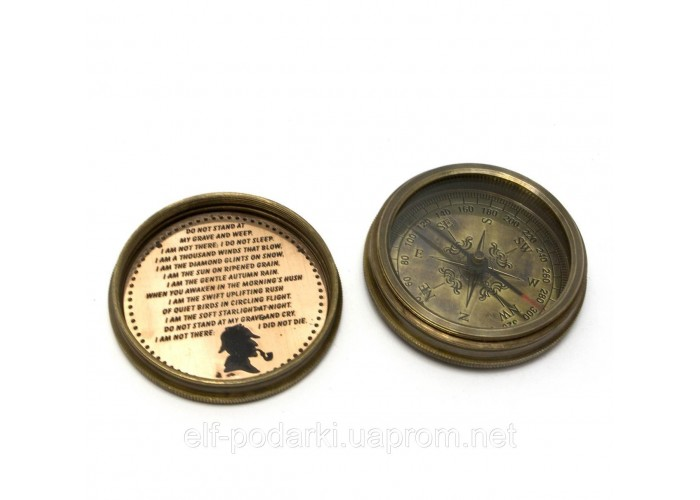 "Компас ""Sherlock Holmes"" бронза (d-6,h-2 см)"