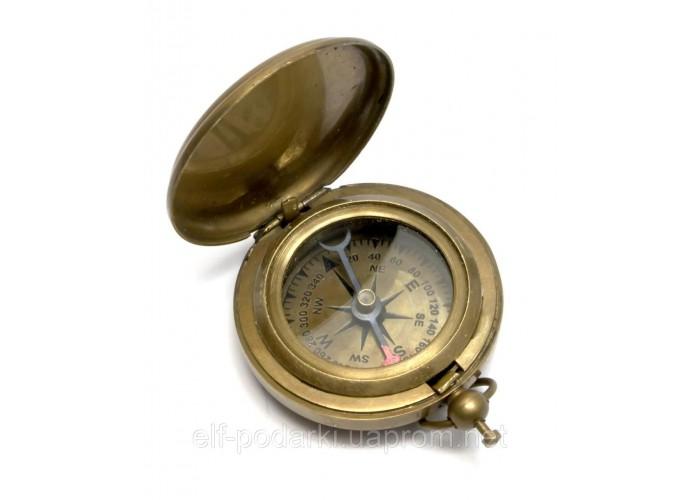 Кишеньковий Компас антик бронза (4,5х4,5х1,5 см)