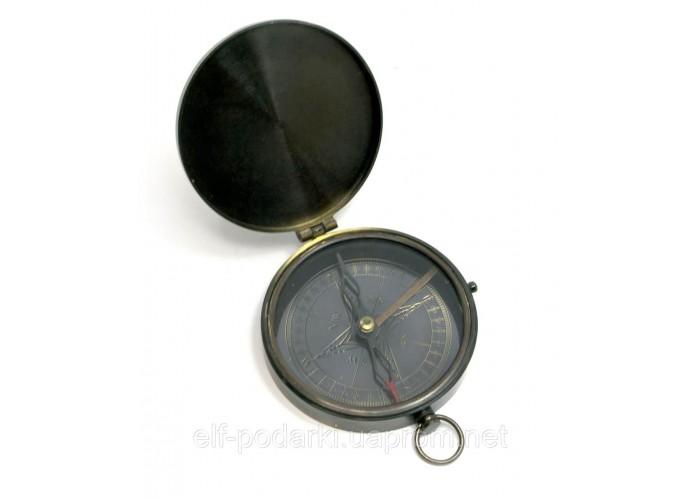 Компас з кришкою бронза (d-8,h-1,5 см)