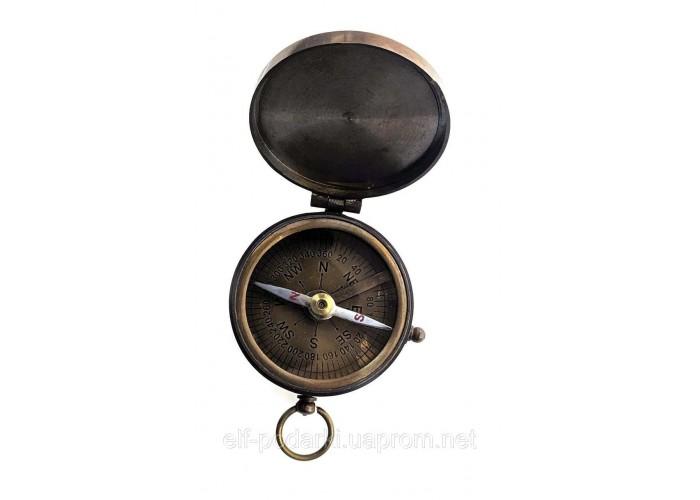 Компас бронзовий з кришкою d-5см h-2см (33976)