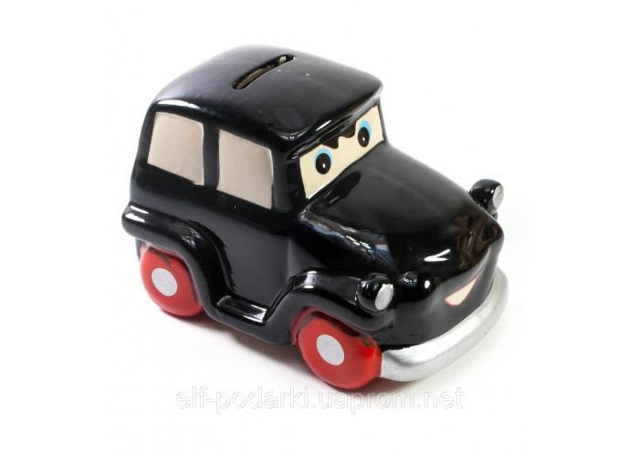 """Керамічна скарбничка """"Автомобіль"""" чорна 13,5х8,5х8см (30764C)"""