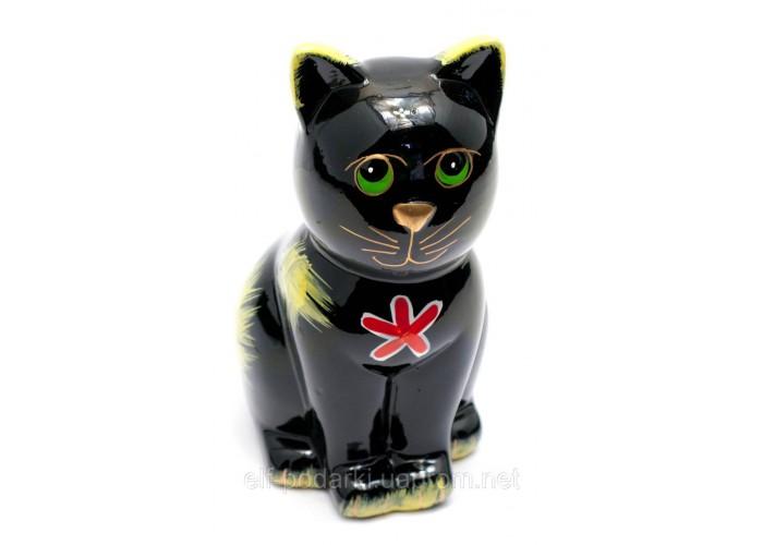 """Керамічна скарбничка """"Кіт"""" чорна (16,5х10х7,5 см) ЗП-29520A"""
