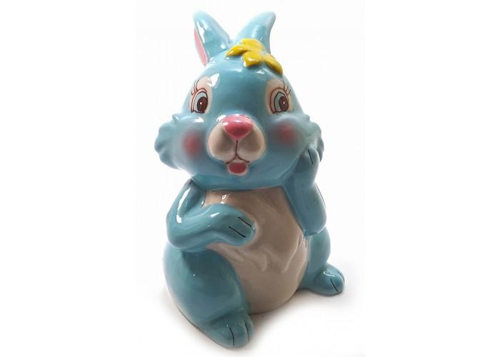 """Керамічна скарбничка """"Кролик"""" блакитна (12,5х8х8 см) ЗП-32210B"""