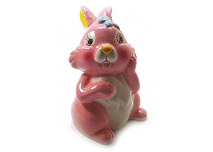 """Керамічна скарбничка """"Кролик"""" рожева (12,5х8х8 см) ЗП-32210A"""