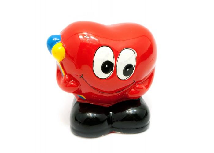 """Керамічна скарбничка """"Сердечко з повітряними кульками"""" (9,5х10х7 см) ЗП-29476"""
