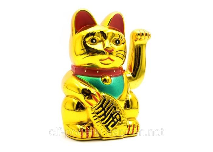 Кішка Манэки-неко махає лапою (12,5х7,5х6,5 см)(батарейки в комплект не входять) ЗП-23976
