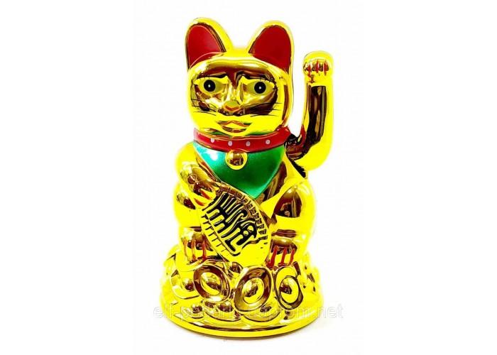 Кішка Манэки-неко махає лапою 11,5х7х7см пластик (18582)