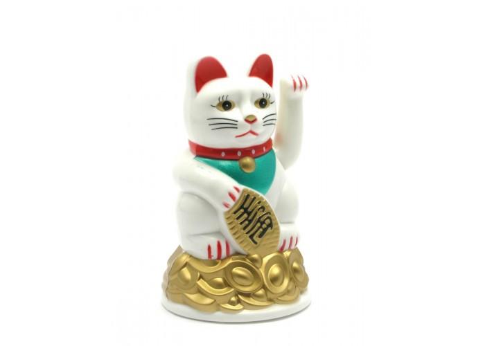 Кішка Манэки-неко махає лапою пластик (11х7х7 см)(батарейки в комплект не входять) ЗП-27918