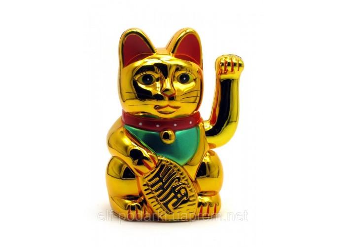 Кішка Манэки-неко махає лапою пластик (18х11х10 см)(батарейки в комплект не входять) ЗП-27980