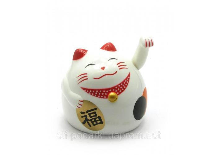 Кішка Манэки-неко махає лапою 9х8х7см пластик (27863)