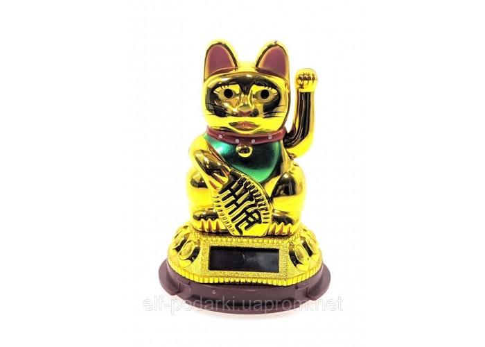 Кішка Манэки-неко на сонячній батареї (10х6,5х6,5 см) ЗП-28102