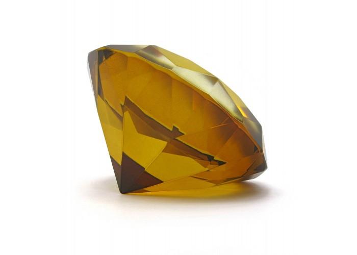 "Кришталевий кристал ""янтар"" (8 см) ЗП-28742"