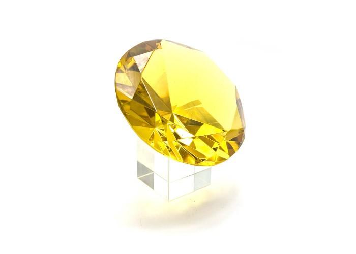 Кришталевий кристал на підставці жовтий (10 см) ЗП-25657